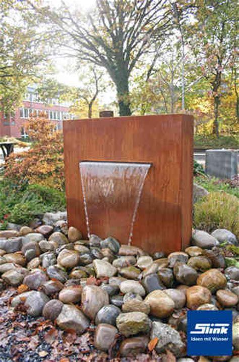 Gartenbrunnen Aus Cortenstahl  Cortenstahlbrunnen Online