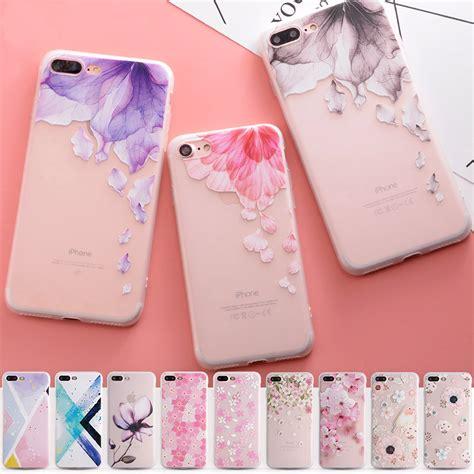 Capa silicone padrões florais iPhone 8 / 8 Plus - The
