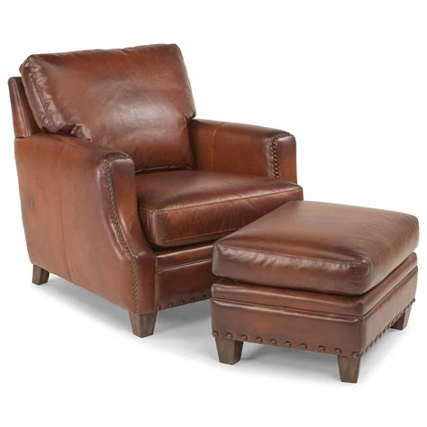 flexsteel latitudes maxfield rustic leather chair
