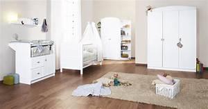 Chambre De Bébé : chambre b b blanche laura avec grande armoire 3 portes ~ Teatrodelosmanantiales.com Idées de Décoration
