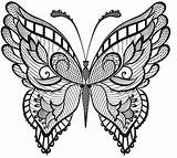 Butterfly Coloring Adults Pages Abstract Mandala Intricate Butterflies Adult Drawing Erwachsene Ausmalbilder Outline Animal Ornamented Tattoo Zum Printable Mandalas Bestcoloringpagesforkids sketch template