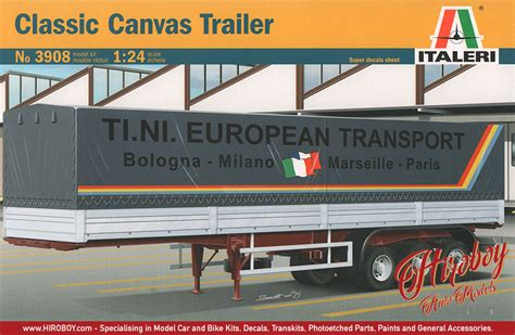 1 24 classic curtain side trailer italeri 3908 model kit