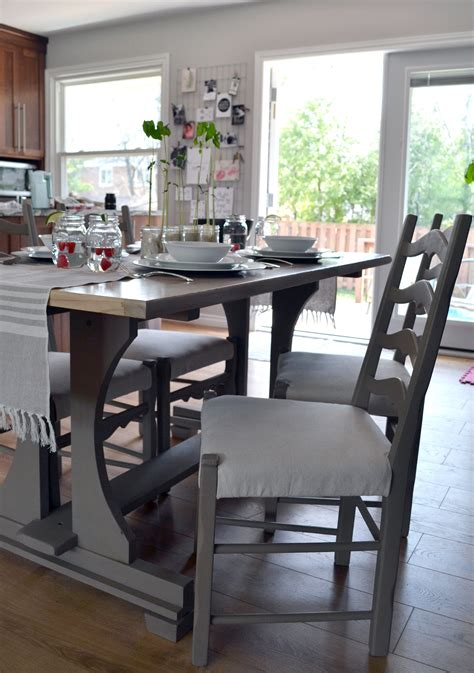 chalkboard paint kitchen table the crux harvest kitchen table makeover with chalk paint
