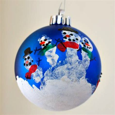 home made ornaments handprint snowman ornament 100 days of homemade holiday