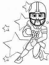 Football Coloring Printable Player sketch template