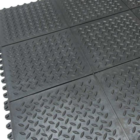 Foam Tile Flooring With Plate Texture by Quot Revolution Plate Quot Interlocking Floor Tiles