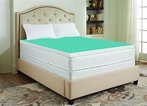 sharper image 3quot cool gel memory foam mattress topper With cooling mattress pad for memory foam