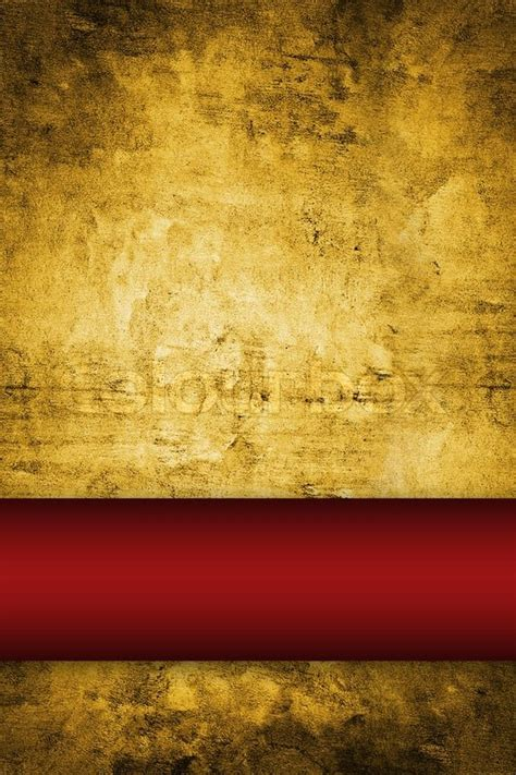 gold background  rich red ribbon stock photo colourbox