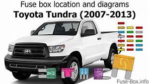 Fuse Box Location And Diagrams  Toyota Tundra  2007