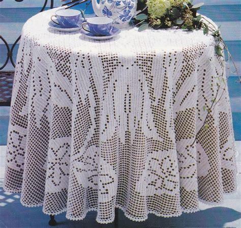 crochet nappe ronde et ovale le de crochet et tricot d de suzelle