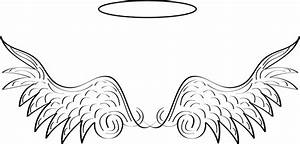 Simple angel wings template angel wing transparent clip ...