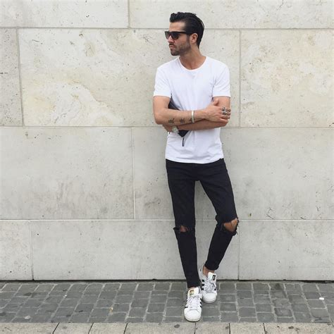 How To Wear White Sneakers. 10 Amazing Outfit Ideas | Menu0026#39;s fashion Man outfit and Fashion
