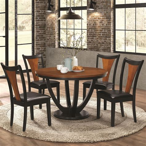 Coaster Boyer Contemporary 5 Piece Table And Chair Set