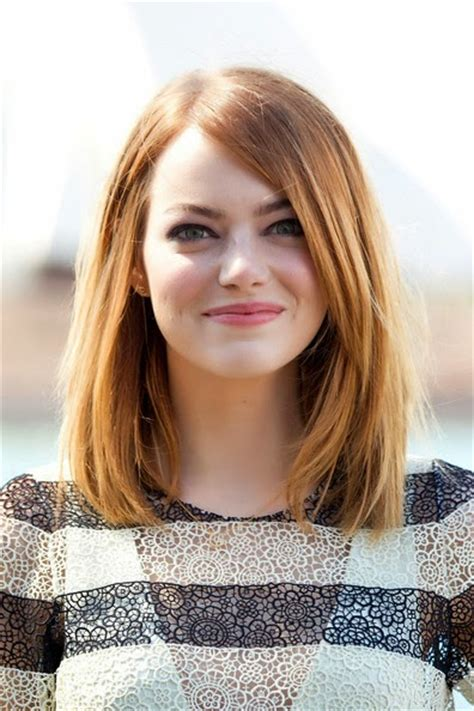 actress long 3 letters emma stone mid length bob hairstyle picture trend hairstyle