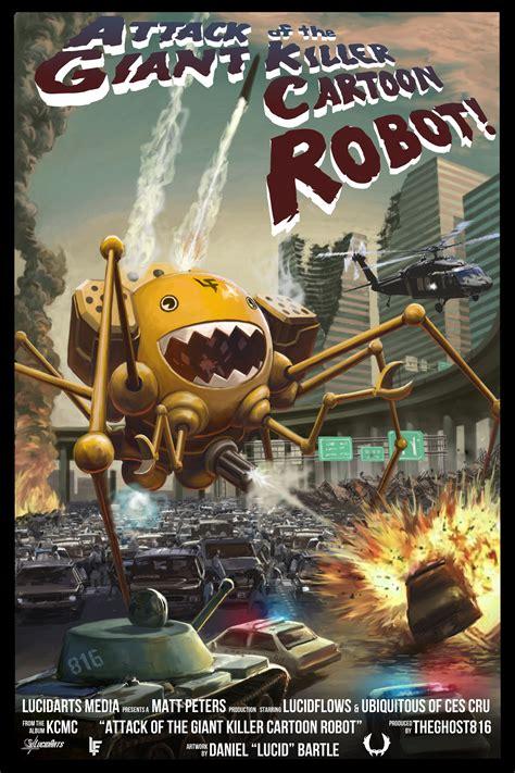 kcmc artwork attack   giant killer cartoon robot