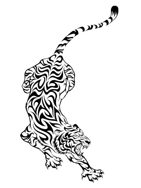Incoming search terms: temporary tattoo tiger tribal | Resources | Tribal tattoos, Tiger tattoo