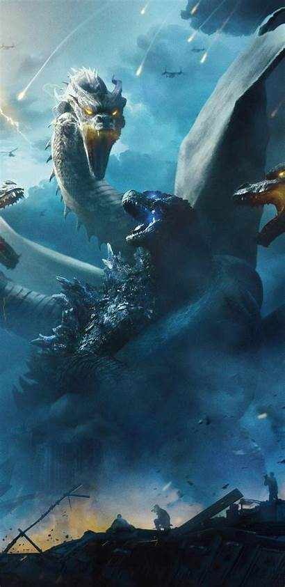 Godzilla Monsters King Poster Wallpapers Background Dragon