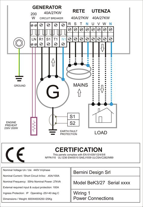 diesel generator panel wiring diagram ac