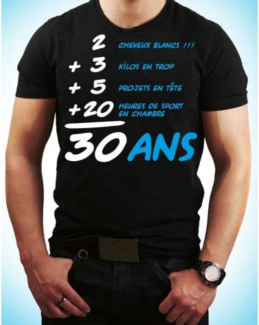 tee shirt  ans anniversaire cadeau homm tralala fetesfr