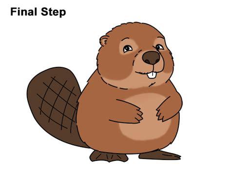 draw  beaver cartoon