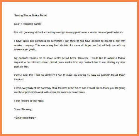 sample resignation email  notice period notice letter