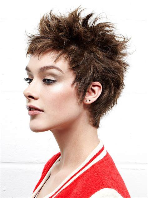 playful short haircut  women  spikes  inspired