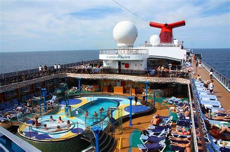 carnival spirit lido deck pool pacific islands cruise the carnival spirit