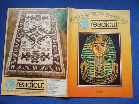 vintage readicut catalogue  wool rug making kits vol