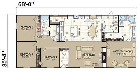Floor Plans: Champion 3268B   Manufactured and Modular