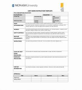 work instruction template doliquid With instruction sheet template word