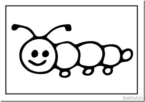 cute caterpillar coloring pages