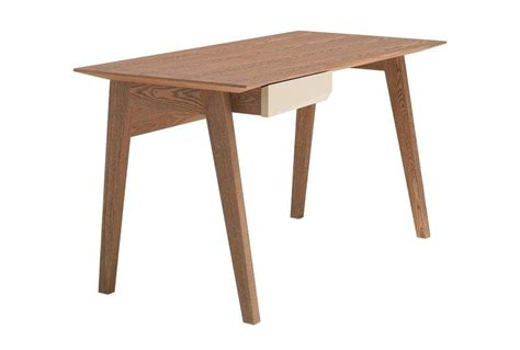 bureau en bois pas cher butterfly bureau design bois avec tiroir laque creme