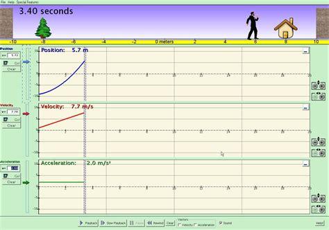 motion simulation  moving man worksheet answers