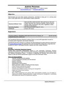 Administrative Support Specialist Resume Exles by 100 Sle Resume Administrative Support Weblogic Administration Sle Resume Admin