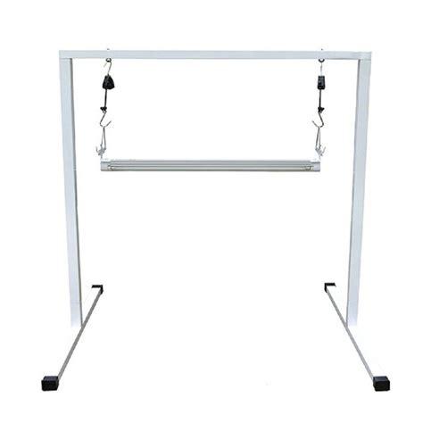 grow ls home depot viavolt t5 2 ft steel white powder coated light stand