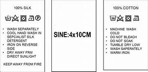 popular care label buy cheap care label lots from china With clothing care label template