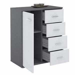 Kommode Grau Weiß : kommode tirano 1 t r 4 schubladen grau wei caro m bel ~ Watch28wear.com Haus und Dekorationen
