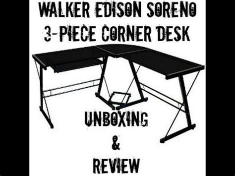 walker edison soreno 3 piece corner desk unboxing and