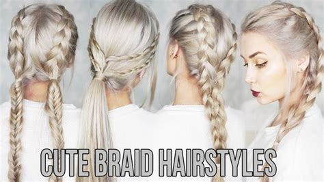 Leading 3 CUTE & EASY Pigtail Hairstyles http://www