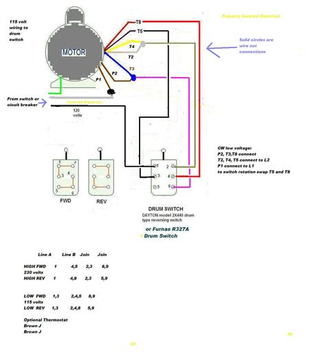 Electric Motor Wiring Diagram 220v by Electric Motor Reversing Switch Wiring Diagram