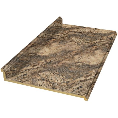 laminate countertops lowes shop vt dimensions formica 10 ft lapidus brown fx radiance