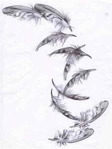 Feather Drawing | Falling Feather Drawing | Feathers ...