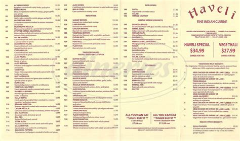 indian cuisine menu haveli indian cuisine menu tustin dineries