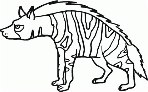 Hyena Coloring Pages