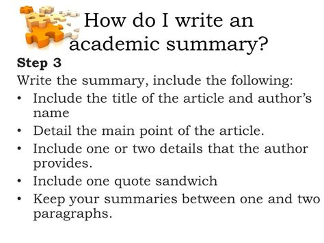 academic summary writing ppt download