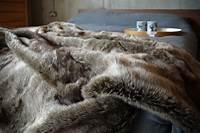 faux fur throw Natural Look Faux Fur Throws | Throws & Blankets | Natural ...