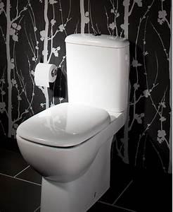 Papier Peint Pour Wc : la d co des wc noir et blanc osez c 39 est chic deco cool ~ Nature-et-papiers.com Idées de Décoration