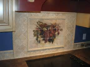 Tuscany Grape Decor For Kitchen by Marble Tile Murals Pacifica Tile Art Studio