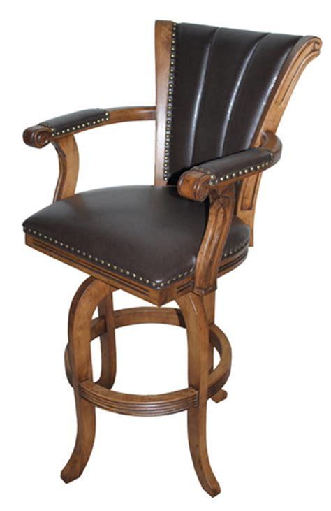 custom wood swivel bar stool montego alfa barstools