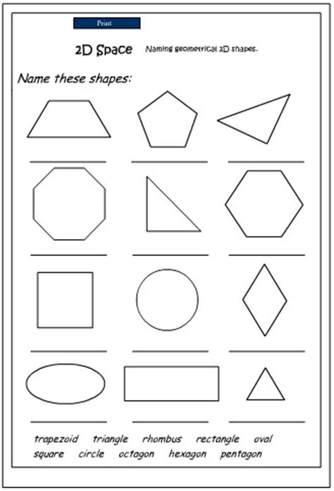 naming 2d shapes mathematics skills interactive